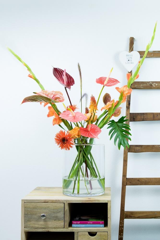 Farbige Blumensträuße, die dich glücklich machen