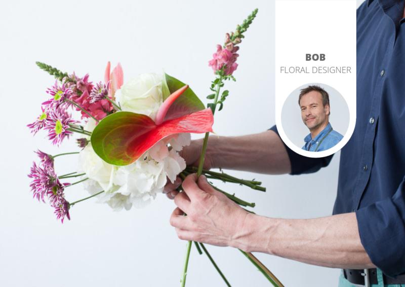In 4 Schritten von einem einfachen zu einem eleganten Blumenstrauß