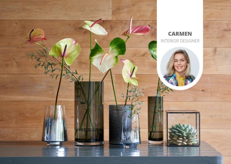 5 außergewöhnliche Vasen, die Schnittanthurien in Szene setzen