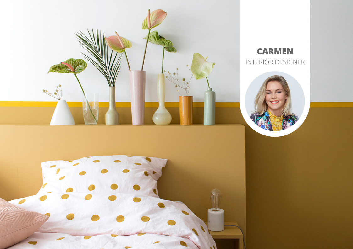 Decorating your home using the flexa trend colour for 2019: spiced honey