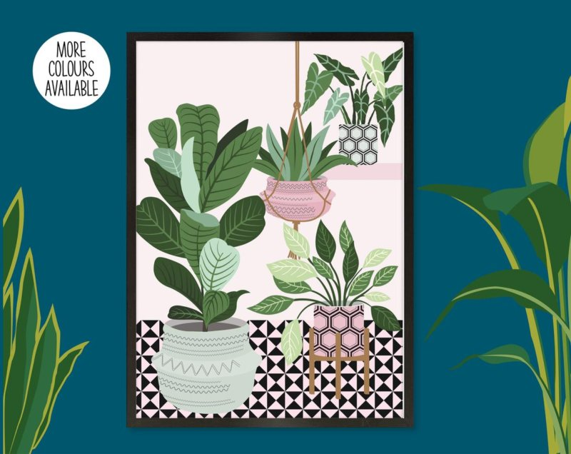 5x botanical artwork to decorate your empty walls