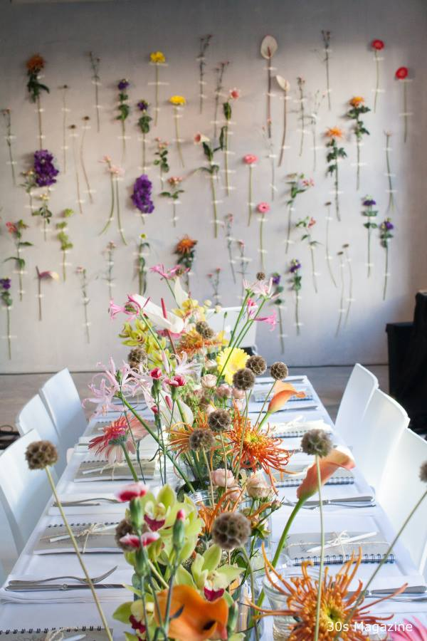 Flowers on the wall like you've never seen before