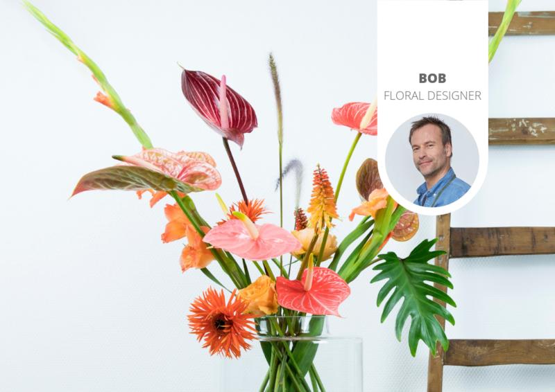 5 idées différentes pour réaliser un bouquet coloré d'anthuriums
