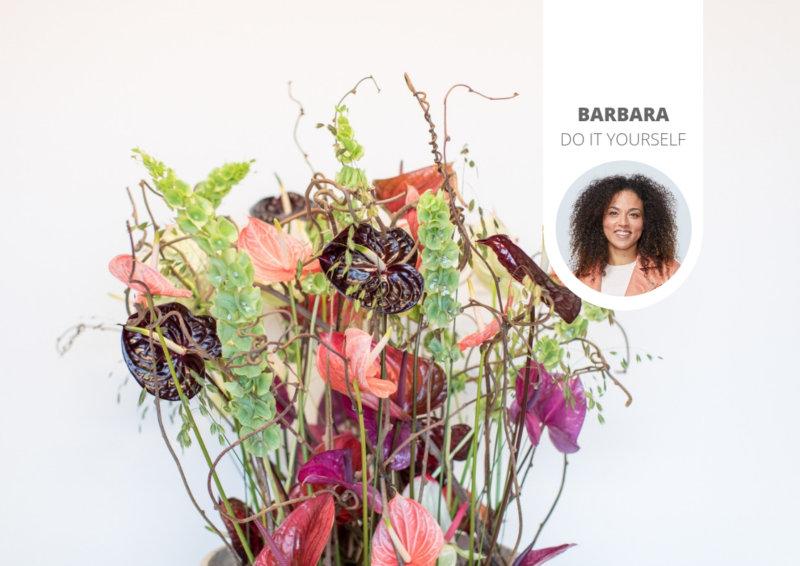 Une composition florale avec des fleurs d'anthurium : 3 exemples