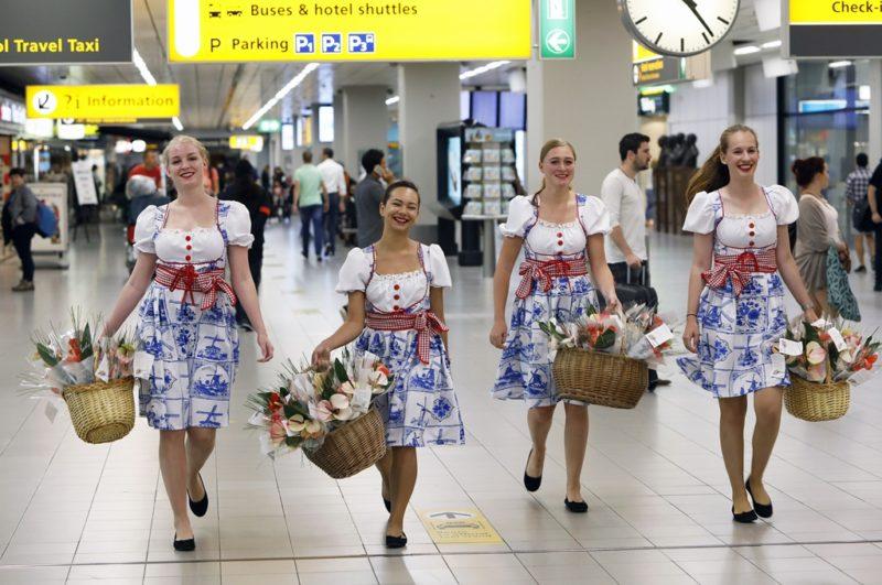 Fleurig welkom thuis op Schiphol met een anthuriumboeket
