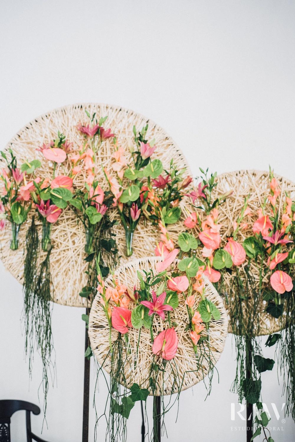 Florales Wandelement Anthurium Blumen