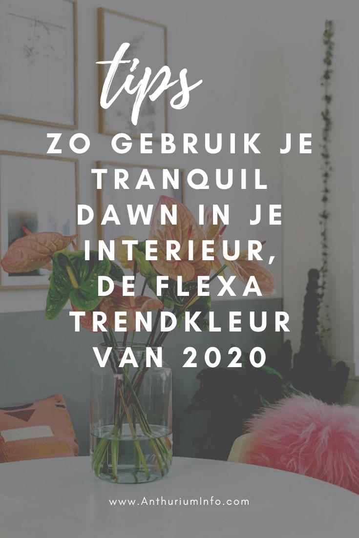 Zo gebruik je de Flexa trendkleur van 2020 Tranquil Dawn in je interieur