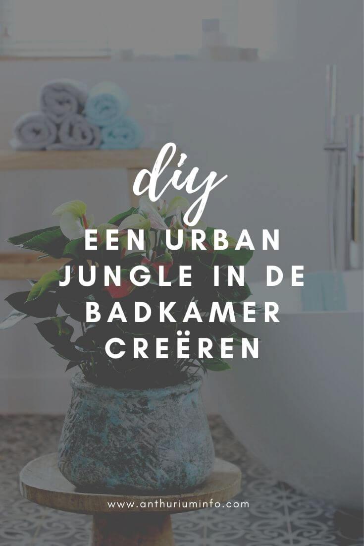 Zo creëer je een Urban Jungle in de badkamer