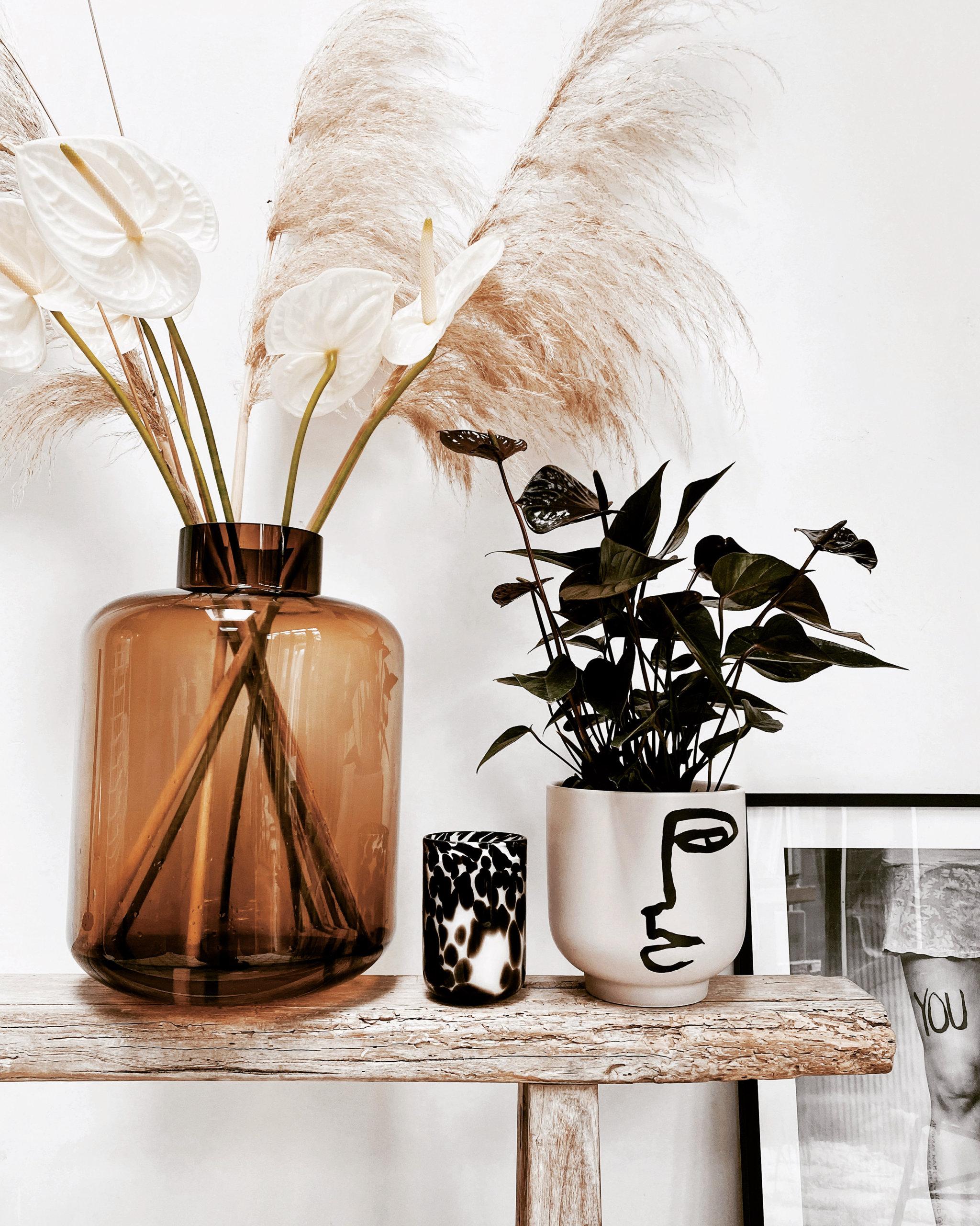 Anthurium interieur inspiratie van Zwart wit en hout